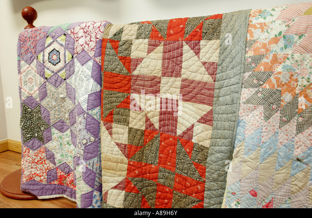 Alabama Troy Pioneer Museum of Alabama quilts - Stock Image