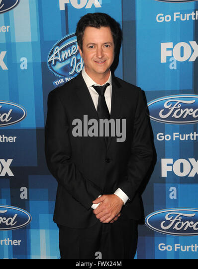 Hollywood, CA, USA. 7th Apr, 2016. Brian Dunkleman. Arrivals for FOX's ''American Idol'' Finale - Stock Image