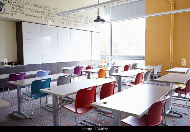 Empty School Classroom - Stock Image