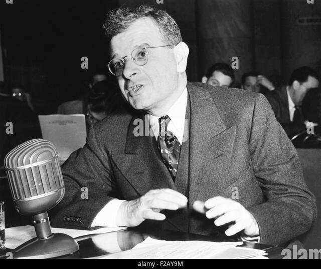Sidney Hillman, Associate Director of the OPM (Office of Production Management). He testified to the Special Defense - Stock Image