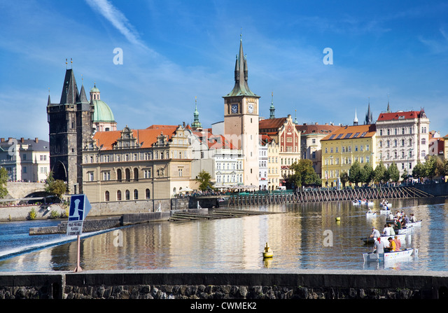 Museum Bedricha Smetany, Staromestske mlyny, Smetanovo nabrezi, Stare Mesto, Praha (UNESCO), Ceska - Stock-Bilder