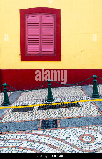 Picturesque corner of old Macau, China - Stock Image