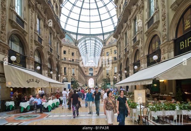 Galleria Vittorio Emanuele II, off Piazza del Duomo, Milan, Lombardy, Italy - Stock Image