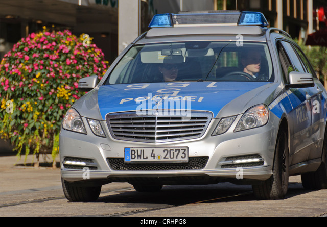 German police car stock photos german police car stock for Mercedes benz germany careers