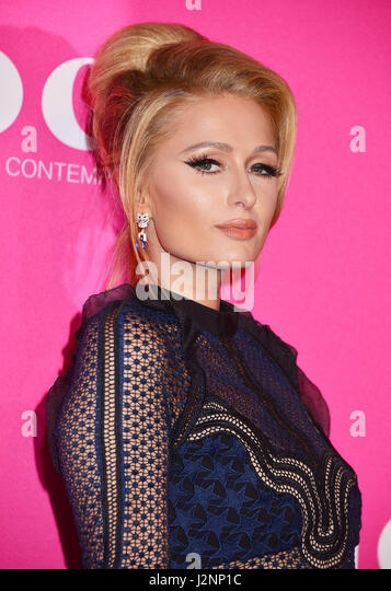 Los Angeles, California, USA. 29th Apr, 2017. Paris Hilton 67 arriving at the 2017 MOCA Gala at tThe Geffen Contemporary - Stock Image