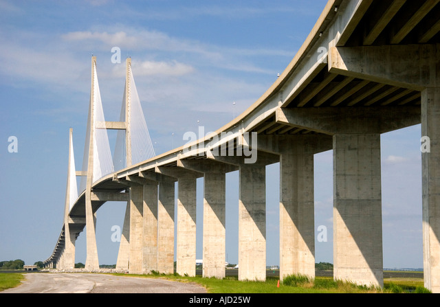 The Sidney Lanier Bridge at Brunswick Georgia - Stock Image