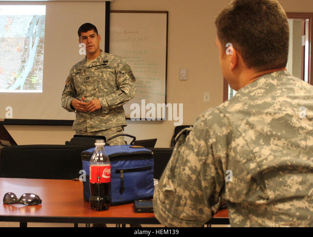 FORT BRAGG, N.C. -- Cpt. Jeffrey Zabala, the assistant operations officer for 4th Squadron, 73rd Airborne Cavalry - Stock Image