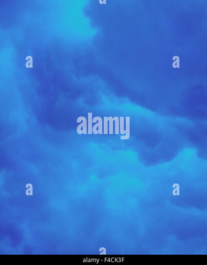 anxiety authority bad weather blue calmness cloud color image darkness hot paint rain sky weather - Stock-Bilder