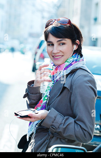 WOMAN ON THE PHONE - Stock-Bilder