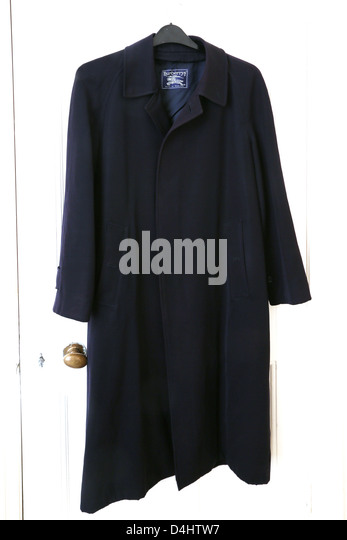 Navy Blue Coat Burberrys - Stock Image