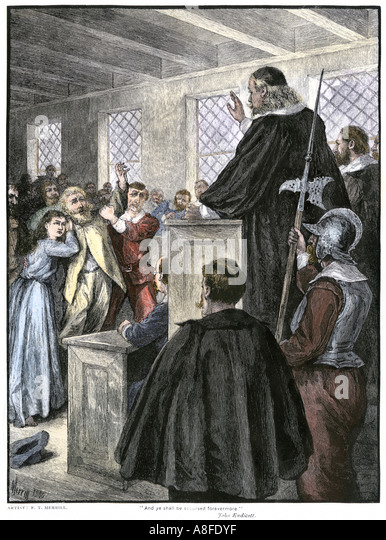 the witch trials An account of the salem witchcraft trials of 1692.