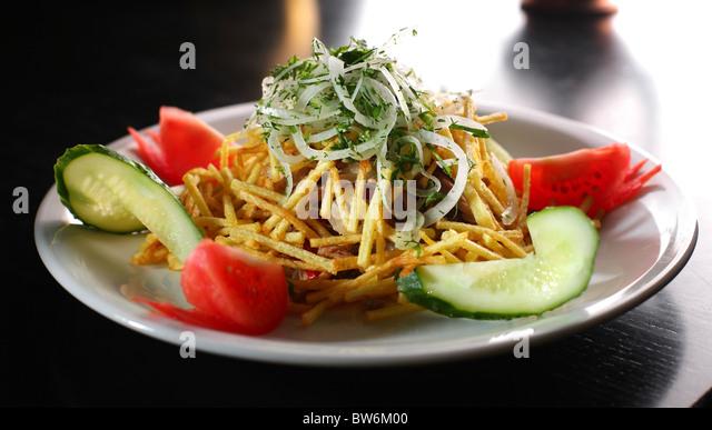 Salad with a potato - Stock Image