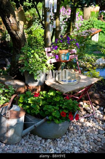 Garden still life - Stock Image