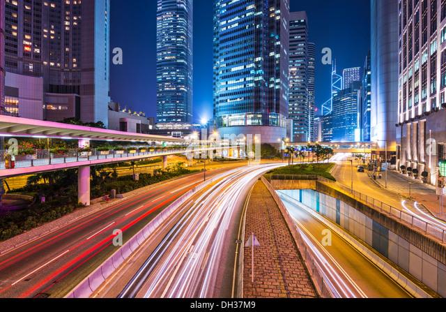 Hong Kong Island financial district cityscape. - Stock-Bilder