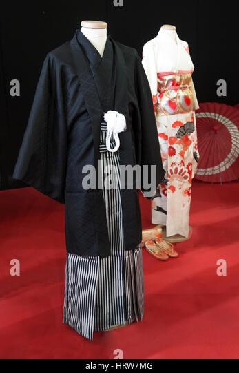 Tradidional Kimono for man named Yukata - Stock Image
