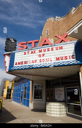 Stax Recording Studio is now Stax Museum of American Soul Music, Soulsville, Memphis, Tennessee - Stock Image