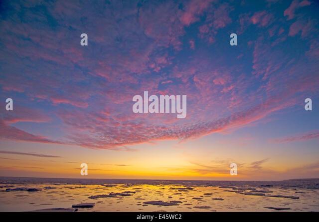 Colourful sunrise over the Beaufort sea, Arctic Alaska. October 2009 - Stock Image