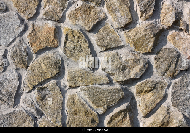 This picture shows the stone gray wall - Stock Image