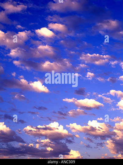 C00025M tif Clouds over Alpine Oregon - Stock Image