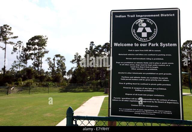 Sep 2, 2011 - Wellington, Florida, U.S. - Acreage Community Park near an area where expansion is planned. The Garden - Stock Image