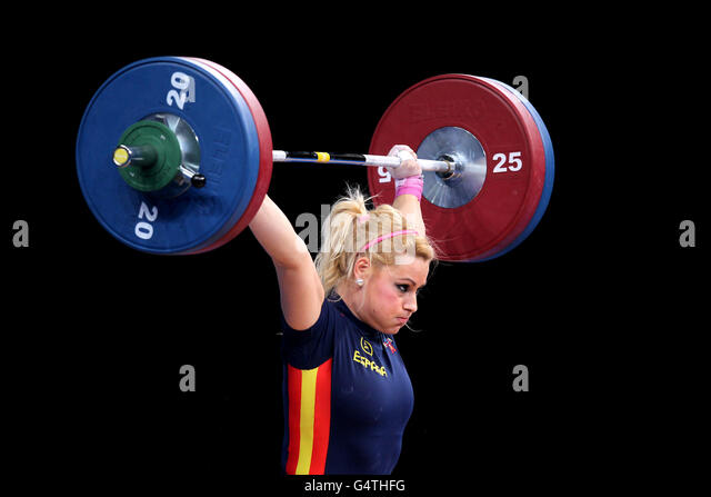 Olympics - Weightlifting - London 2012 Test Event - Day Two - Excel Arena - Stock Image
