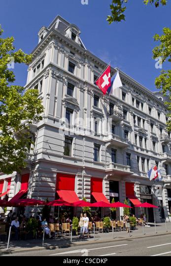 Switzerland, Zurich, Zuerich, Cafe Felix Terasse, people - Stock Image
