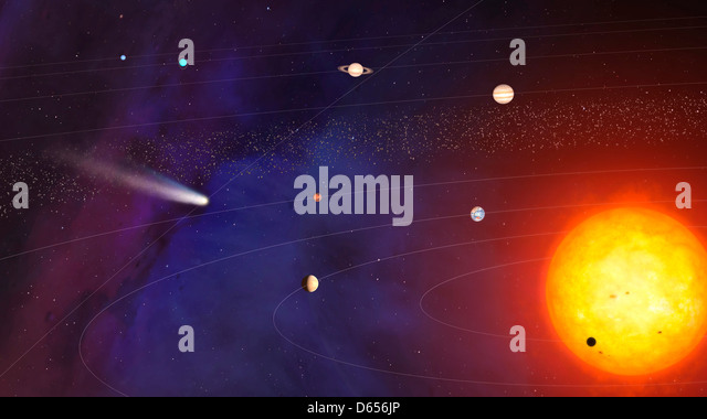 Solar System artwork - Stock Image