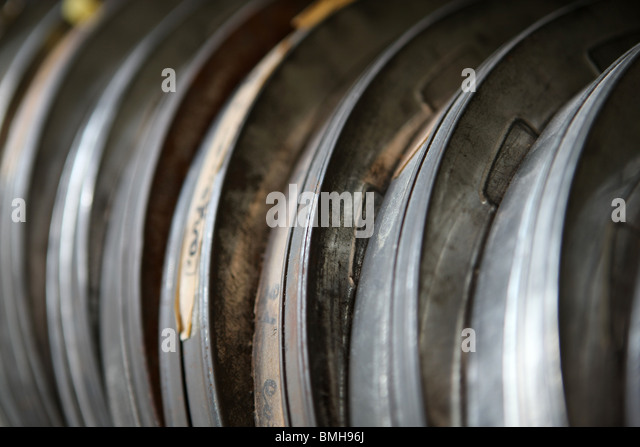 film reels, film, cinema - Stock Image