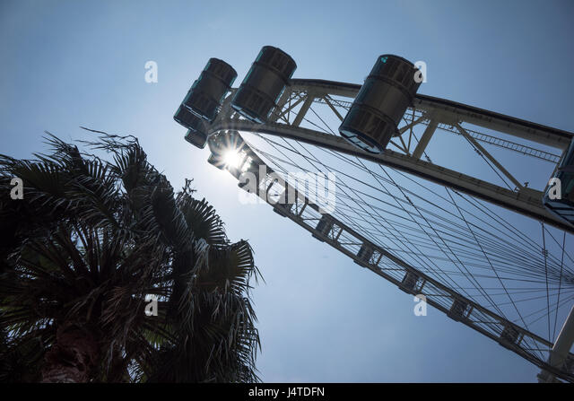 A giant Ferris wheel in Singapore. Described by its operators as an observation wheel - Stock-Bilder