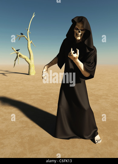 Beckoning Figure of Death - Stock Image