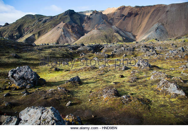 Exploring Iceland Nature Reserve - Stock Image