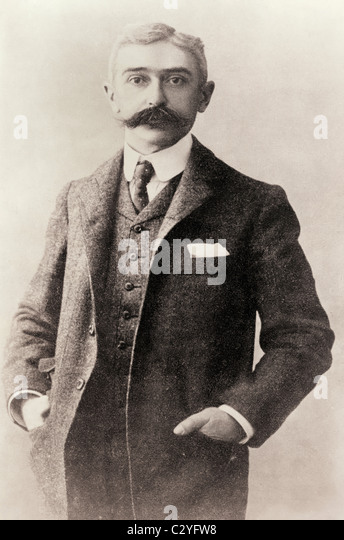 Pierre Frédy, Baron de Coubertin, 1863 – 1937. French historian. Founder of modern Olympic Games - Stock Image