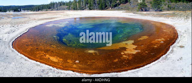 Beauty Pool, Upper Geyser Basin near Old Faithful, Yellowstone National Park - Stock Image