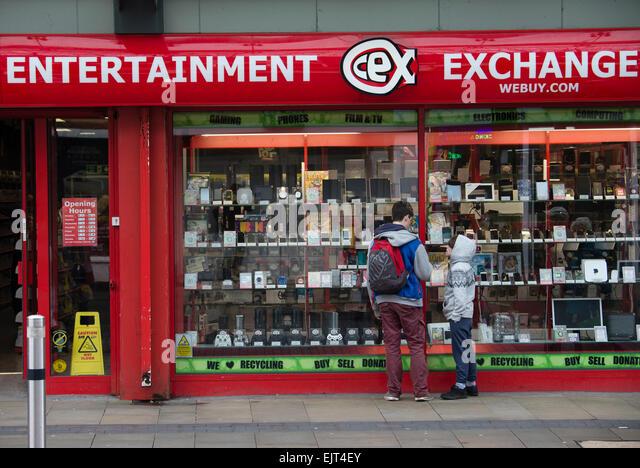 Entertainment Exchange (webuy.com) shop store Swansea Wales UK - Stock Image