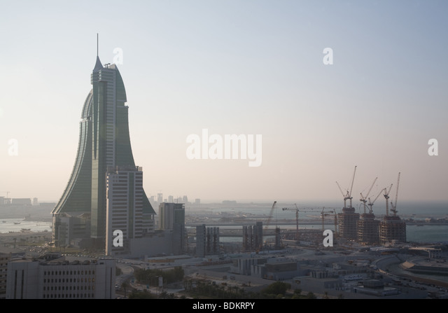 Bahrain Financial Centre Manama - Stock Image