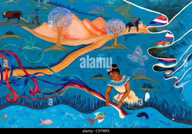 Zapatista chiapas stock photos zapatista chiapas stock for Mural zapatista