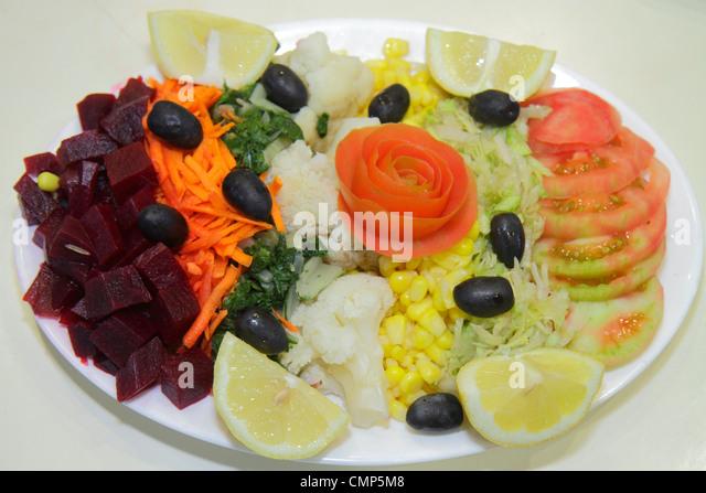 Santiago Chile Providencia Plaza Italia Parrilladas Prosit restaurant dining Chilean cuisine chain business salad - Stock Image