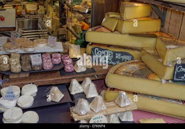 Gourmet Food, Cheese, Boroughs Market, London,  United Kingdom, - Stock Image