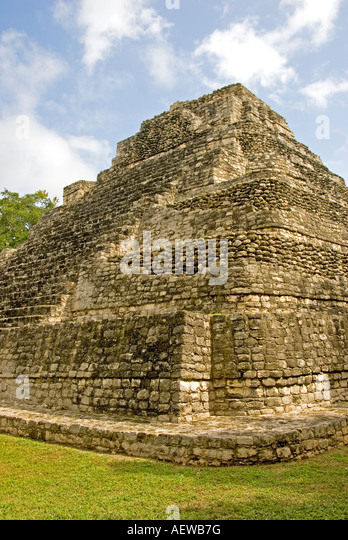 Costa Maya Chacchoben Mayan ruin Temple Templo 10 Pyramid - Stock Image