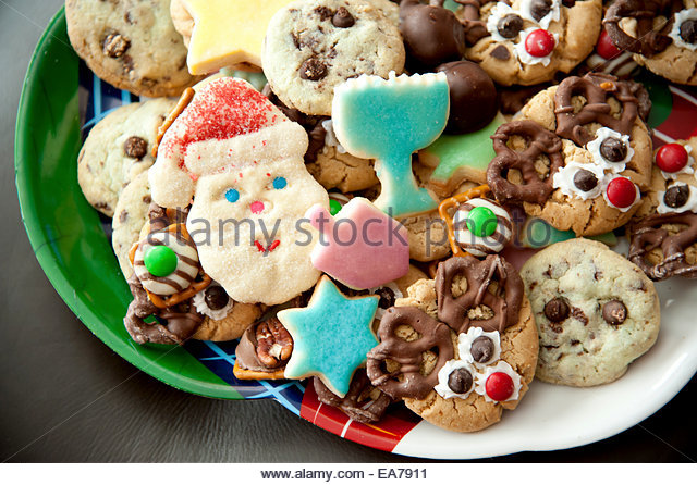 Cookies on plate - Stock Image