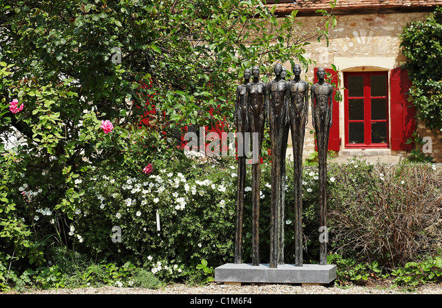 France, Cher, Berry, the artistic gardens of Drulon, the king and his court by Karel Zijlstra - Stock-Bilder