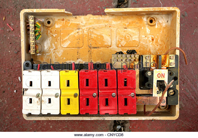 Modern Electrical Fuse Box : Consumer unit stock photos images