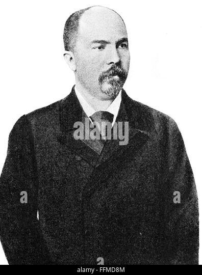 Stefan Nikolov Stambolov, circa 1890 - Stock Image