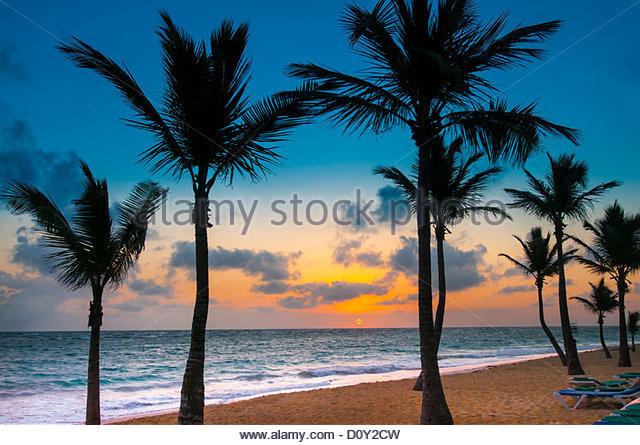 beach Punta Cana Dominican Republic caribbean - Stock Image