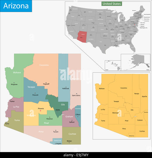 Political Map Arizona Stock Photos Amp Political Map Arizona