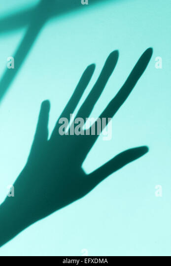 shadow of hand - Stock Image