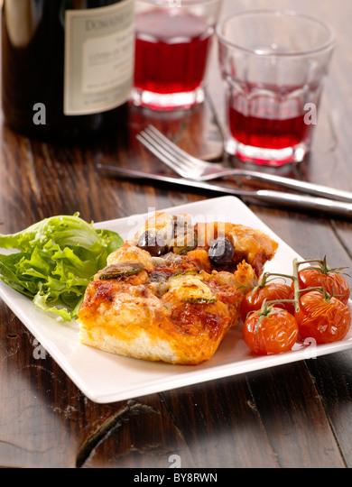 Ciabatta Pizza - Stock Image