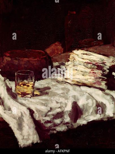 """""""fine arts, Schuch, Carl, (30.9.1846 - 13.9.1903), painting, """"Stillleben mit Spargel"""", circa 1885, - Stock Image"""