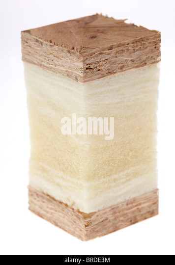slice cross section of a structural insulated panels modern timber frame insulated construction - Stock-Bilder