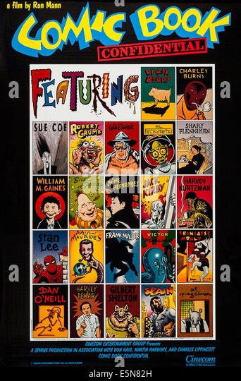 COMIC BOOK CONFIDENTIAL, US poster art, 1988, © Cinecom Pictures/courtesy Everett Collection - Stock Image